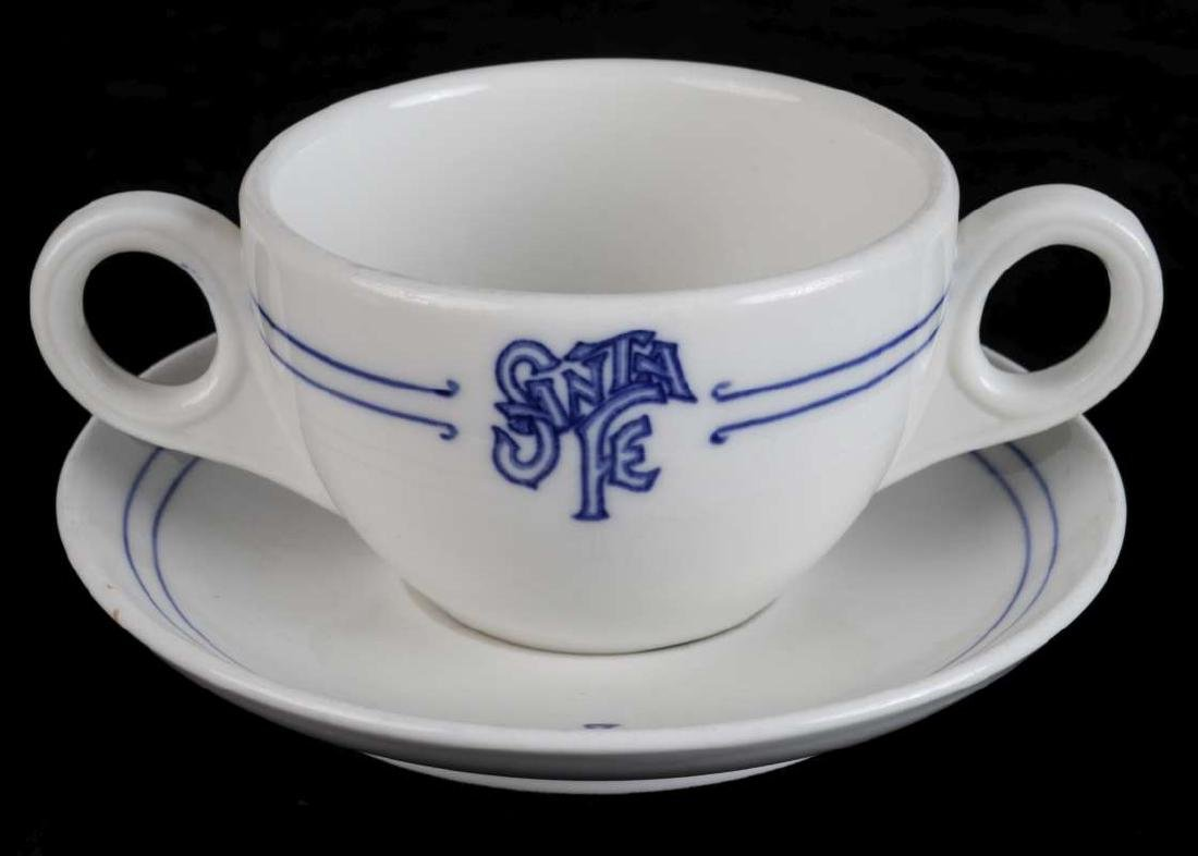 AT&SF BLEEDING BLUE BULLION CUP AND SAUCER