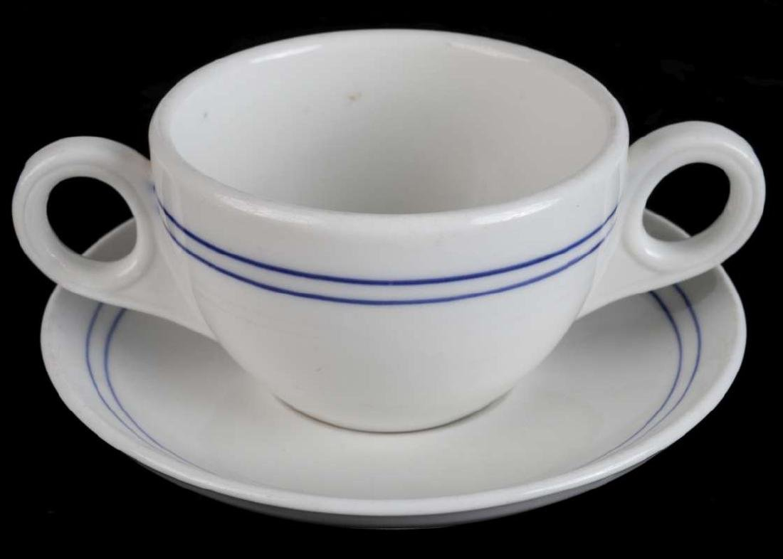 AT&SF BLEEDING BLUE BULLION CUP AND SAUCER - 2