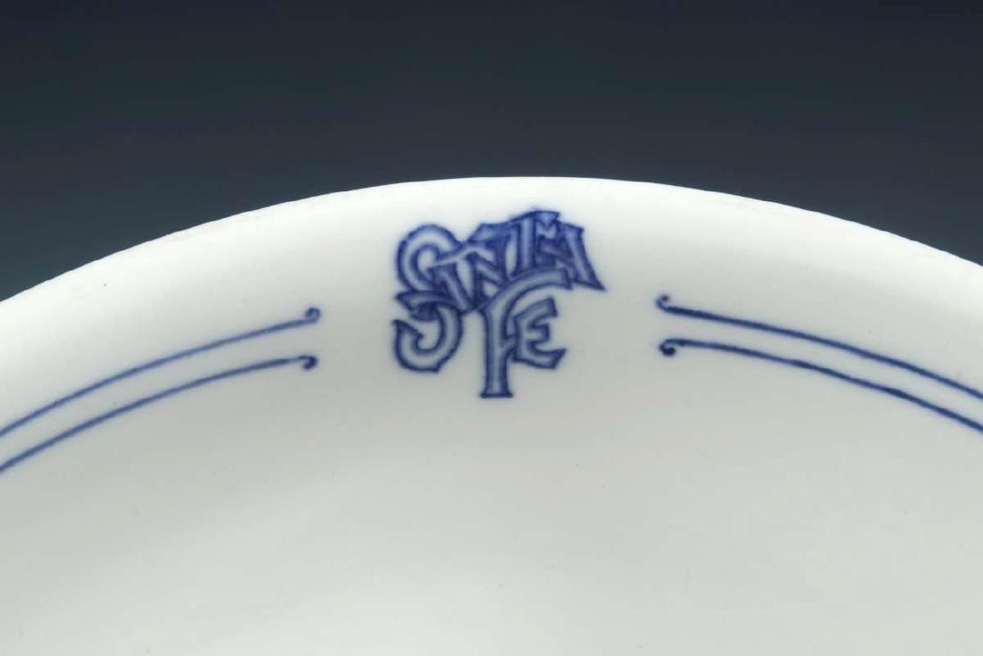 AT&SF SANTA FE RR BLEEDING BLUE SERVING BOWL - 3