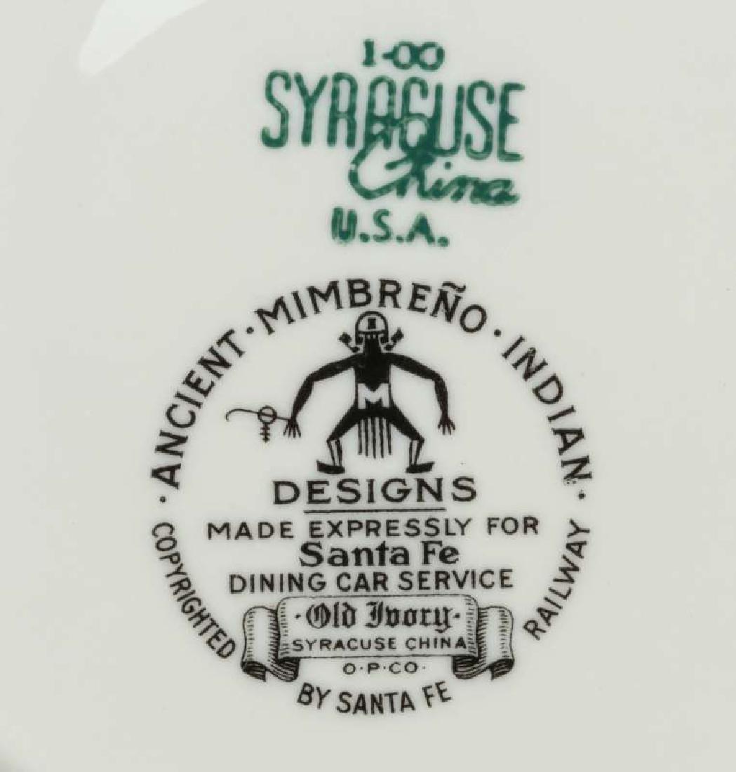 AT&SF SANTA FE RR MIMBRENO BULLION CUP AND SAUCER - 10
