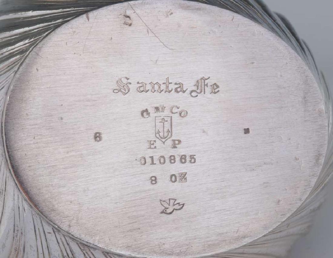 AT&SF SANTA FE RR GORHAM 8 OZ SILVER -PLATED SYRUP - 10