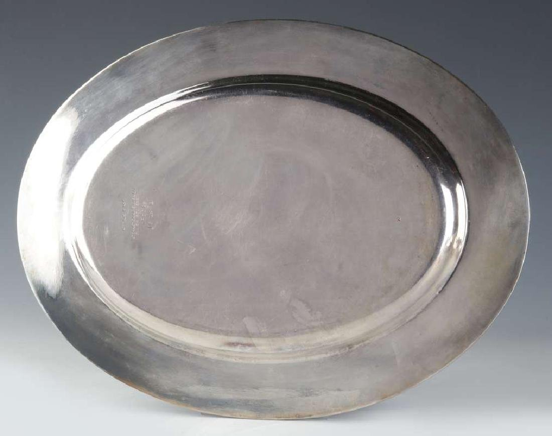 TWO AT&SF SANTA FE RR SILVER SERVING PLATTERS - 8
