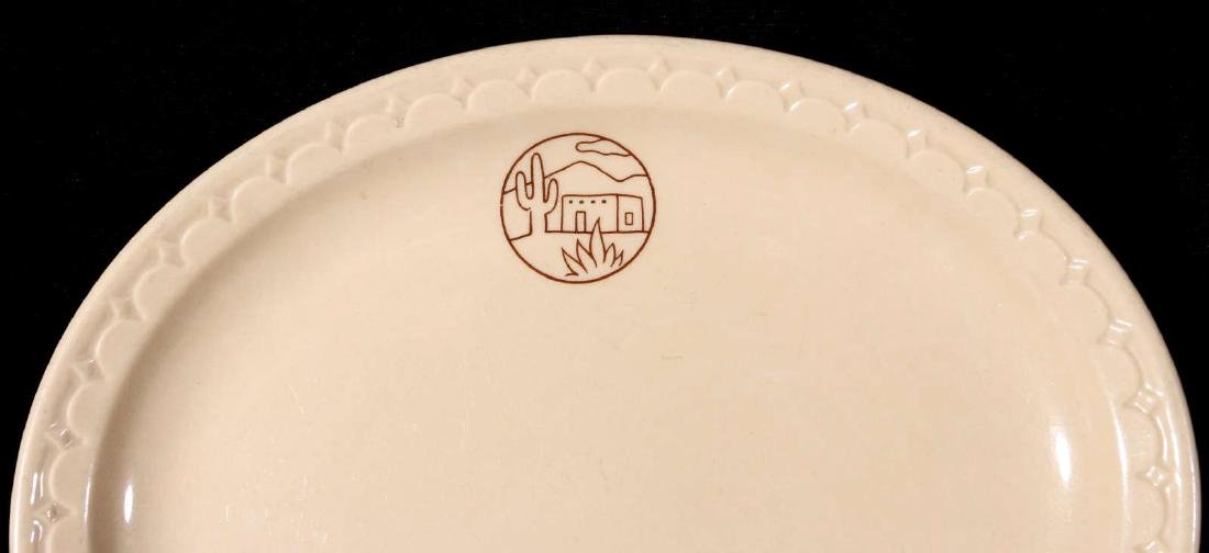 TWO AT&SF SANTA FE RR ADOBE OVAL PLATTERS - 10