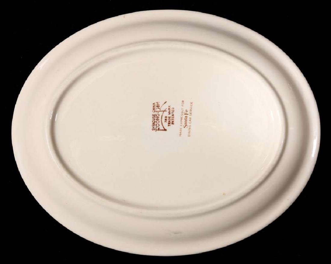 TWO AT&SF SANTA FE RR ADOBE OVAL PLATTERS - 7