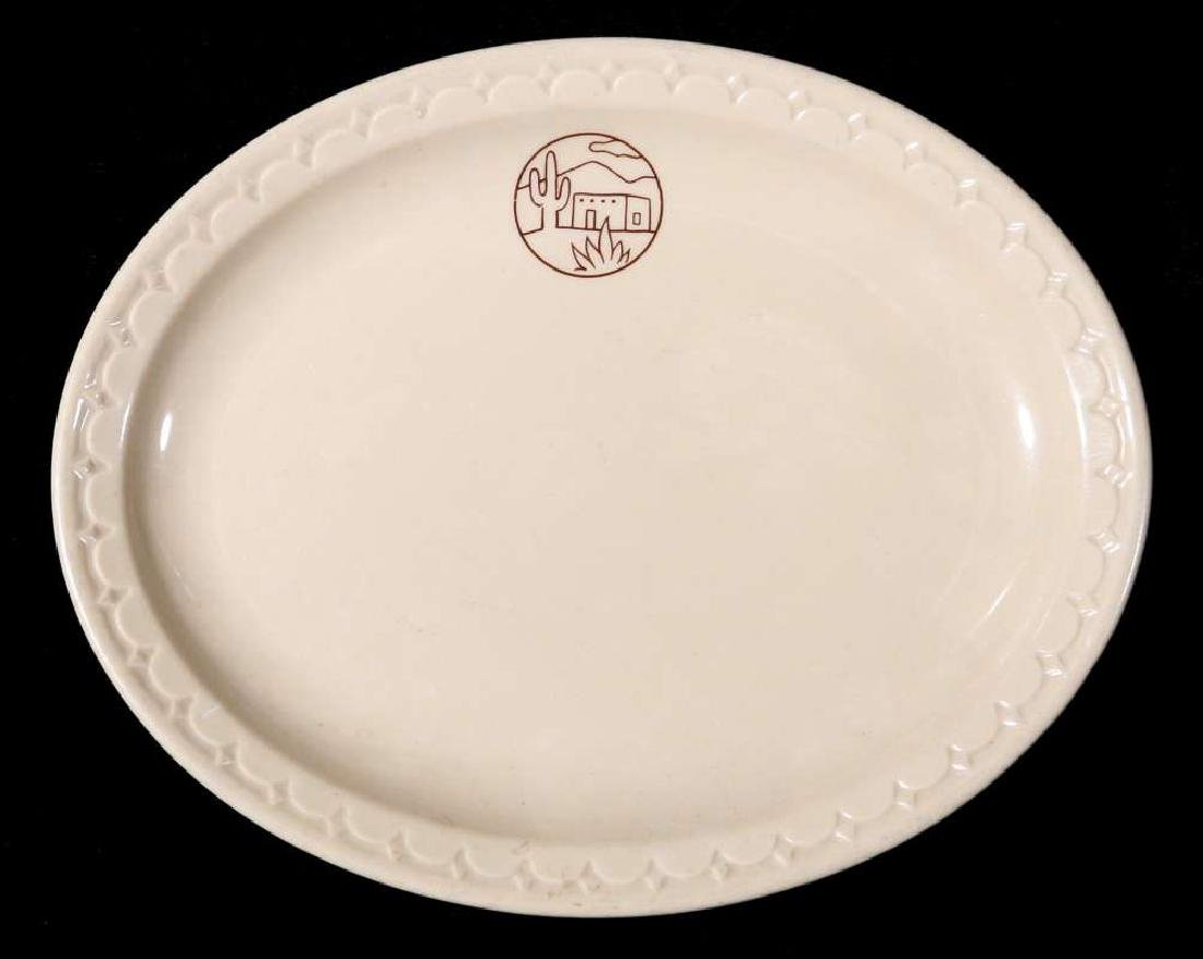 TWO AT&SF SANTA FE RR ADOBE OVAL PLATTERS - 8