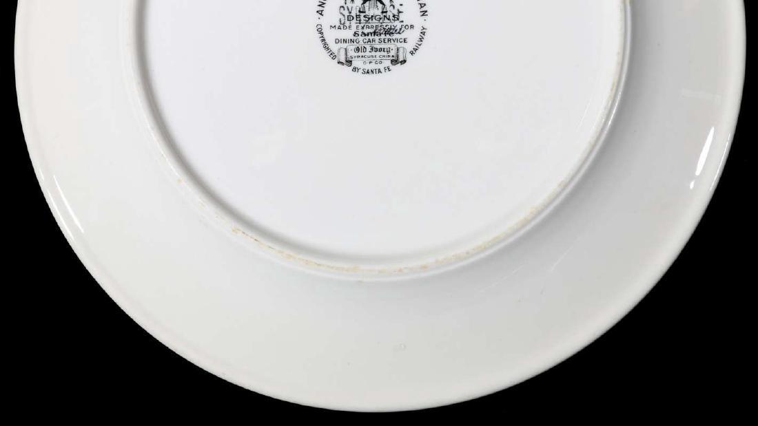 AT&SF SANTA FE RR MIMBRENO DINNER PLATE - 9