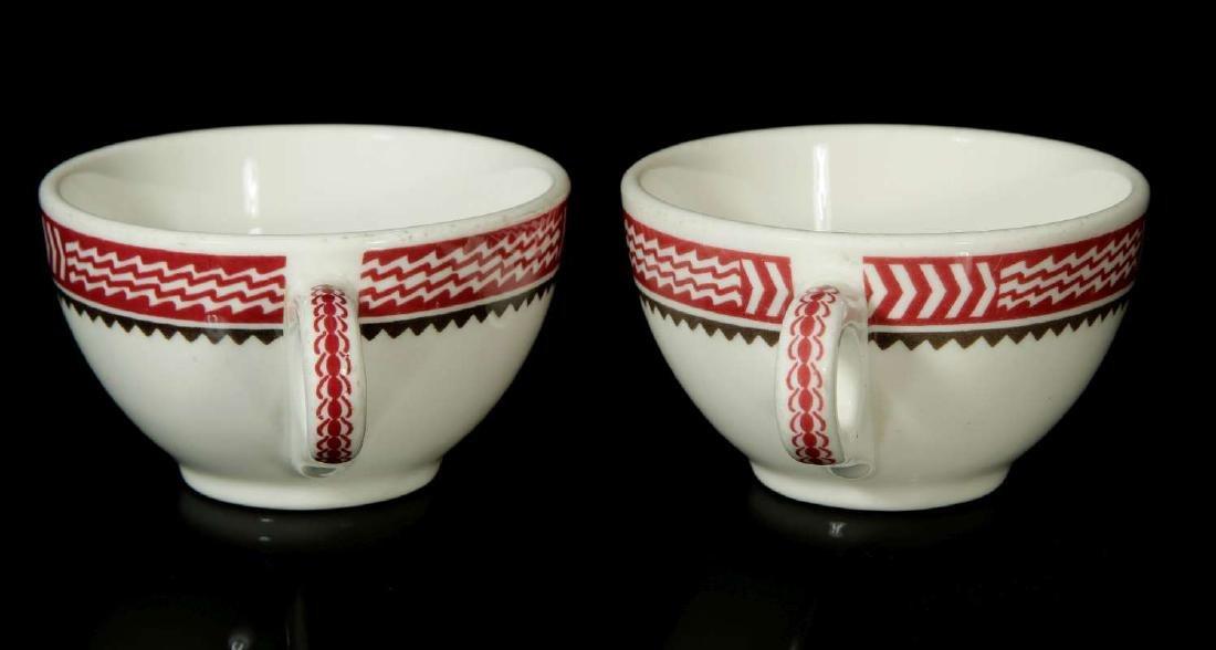 TWO AT&SF SANTA FE RR MIMBRENO BOUILLON CUPS - 6