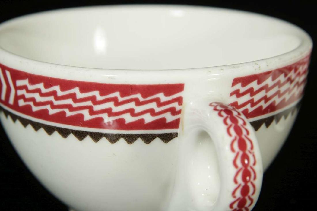 TWO AT&SF SANTA FE RR MIMBRENO BOUILLON CUPS - 7
