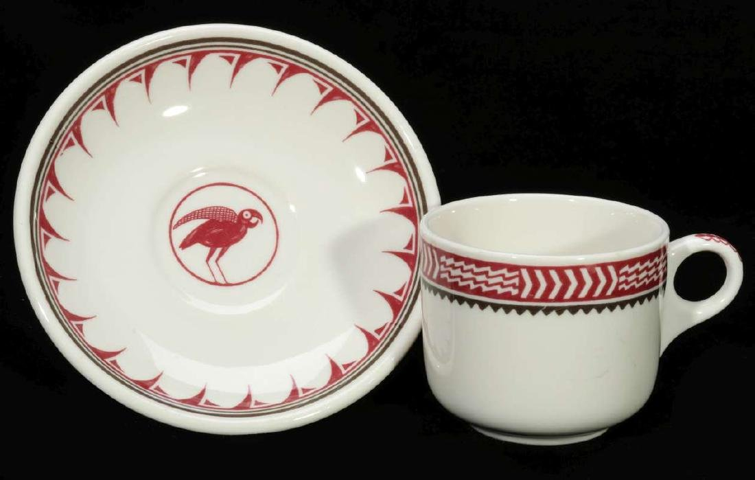 AT&SF SANTA FE RR MIMBRENO COFFEE CUP AND SAUCER
