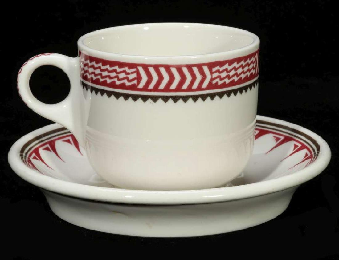 AT&SF SANTA FE RR MIMBRENO COFFEE CUP AND SAUCER - 6