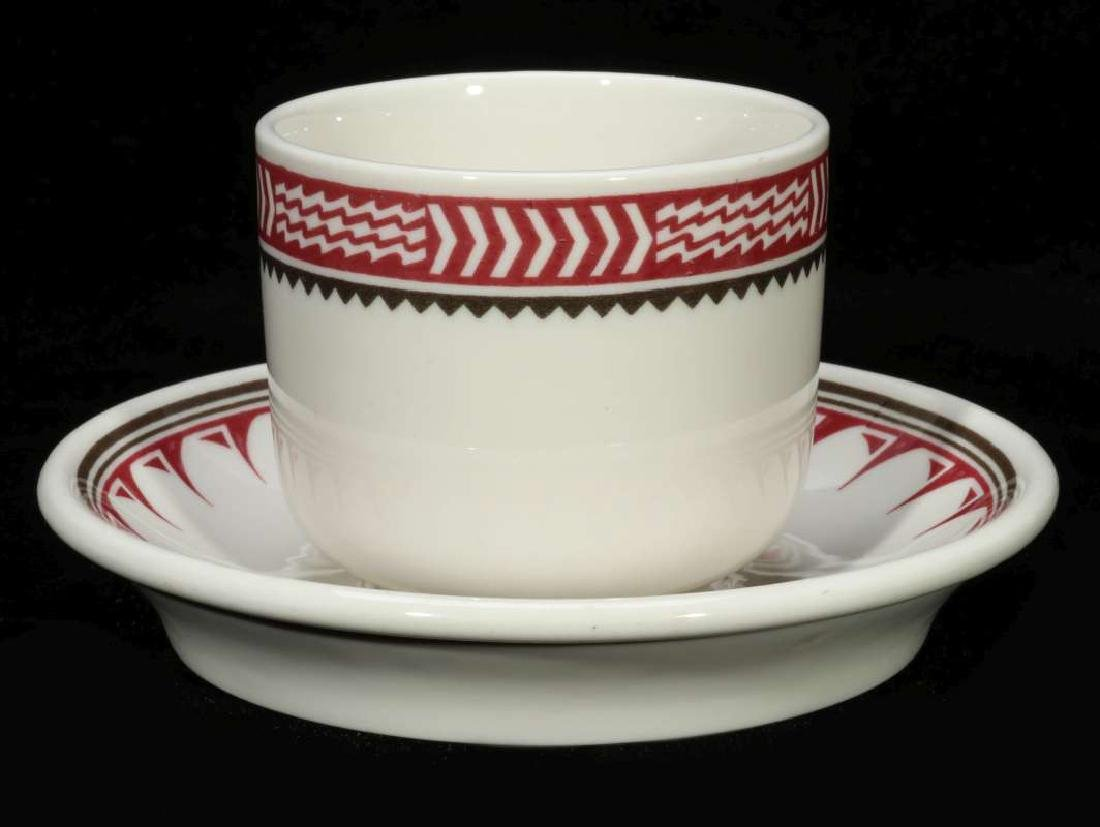 AT&SF SANTA FE RR MIMBRENO COFFEE CUP AND SAUCER - 7
