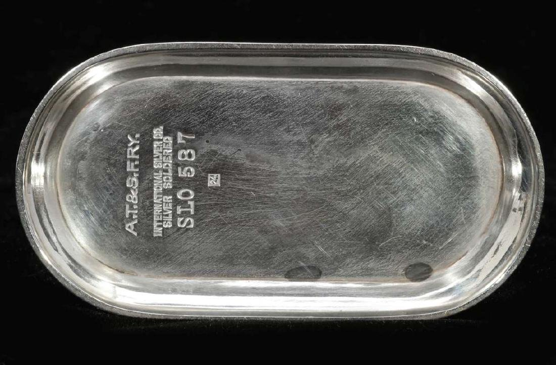 A SANTA FE RAILROAD SALT & PEPPER CASTER - 10
