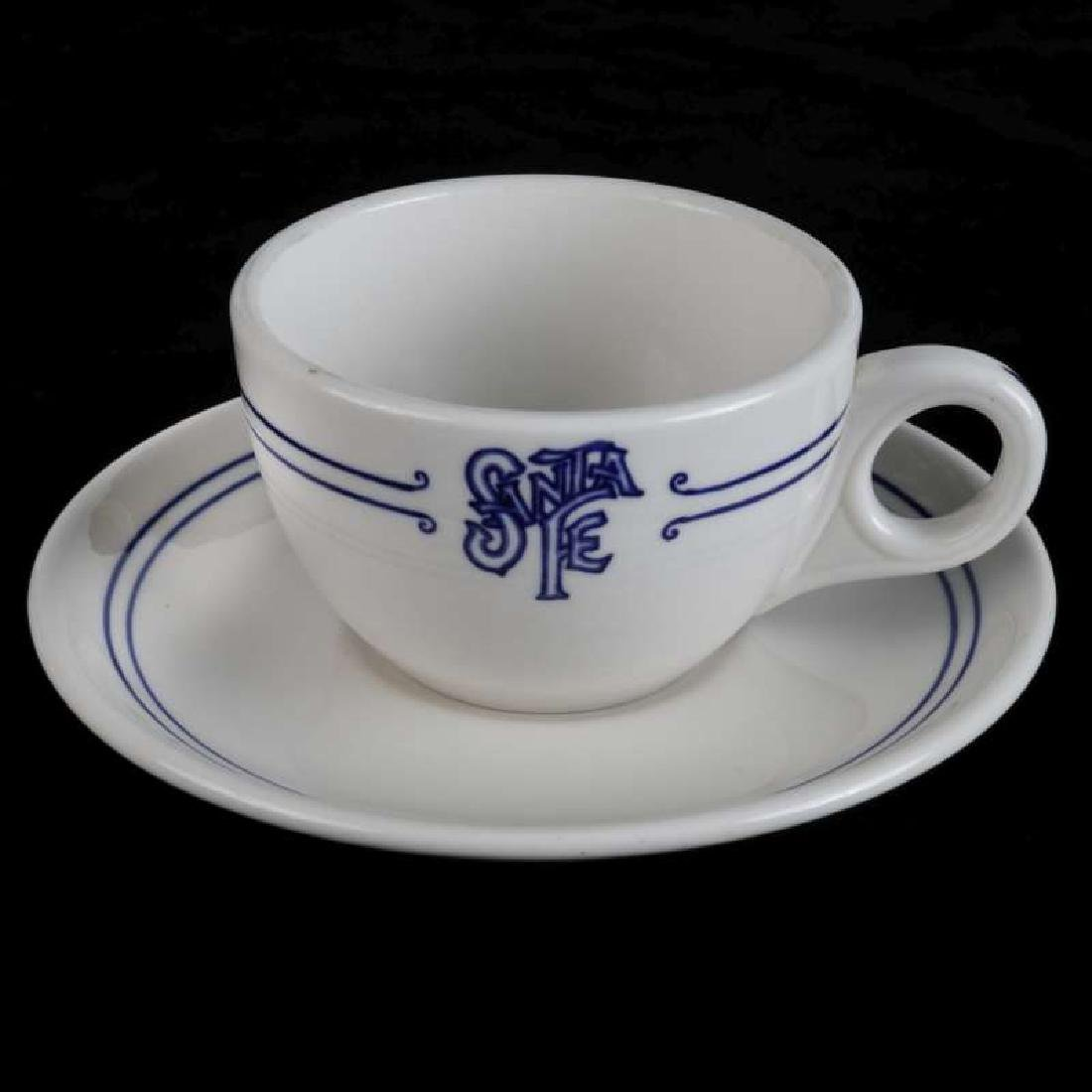AT&SF SANTA FE RR BLEEDING BLUE COFFEE CUP, SAUCER