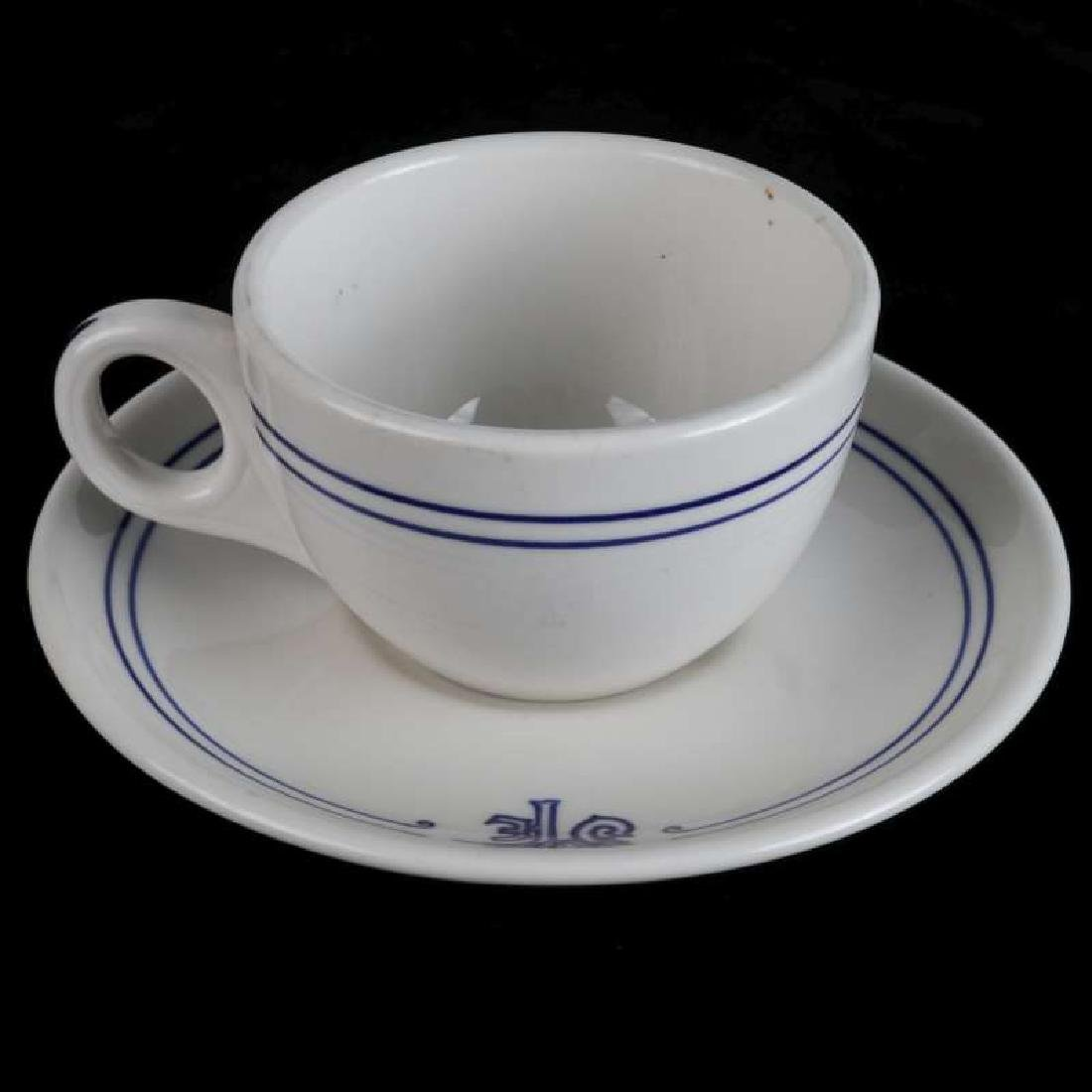 AT&SF SANTA FE RR BLEEDING BLUE COFFEE CUP, SAUCER - 2