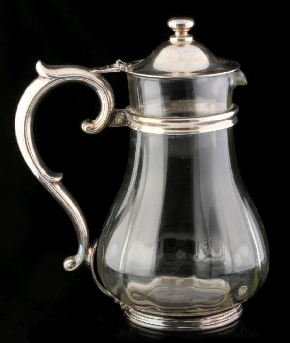 AT&SF SANTA FE RR SILVER MOUNTED GLASS PITCHER - 4