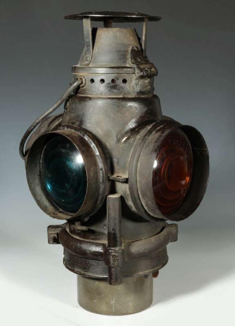 AN AT&SF SANTA FE RR ADLAKE SWITCH LAMP - 6