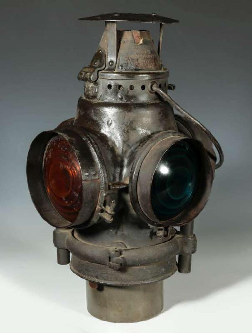 AN AT&SF SANTA FE RR ADLAKE SWITCH LAMP - 7