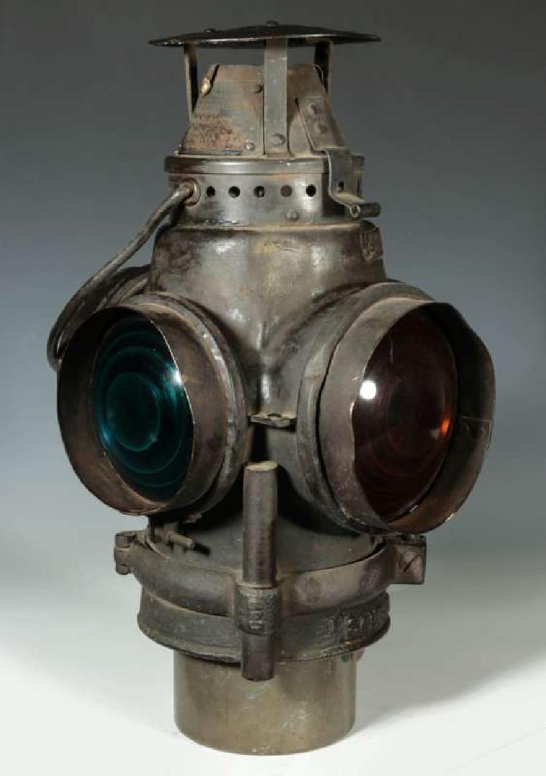 AN AT&SF SANTA FE RR ADLAKE SWITCH LAMP - 9