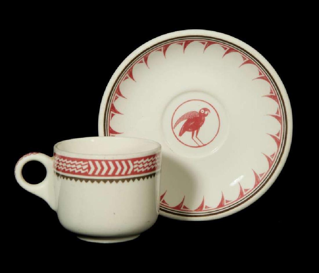 AT&SF SANTA FE RR MIMBRENO COFFEE CUP AND SAUCER