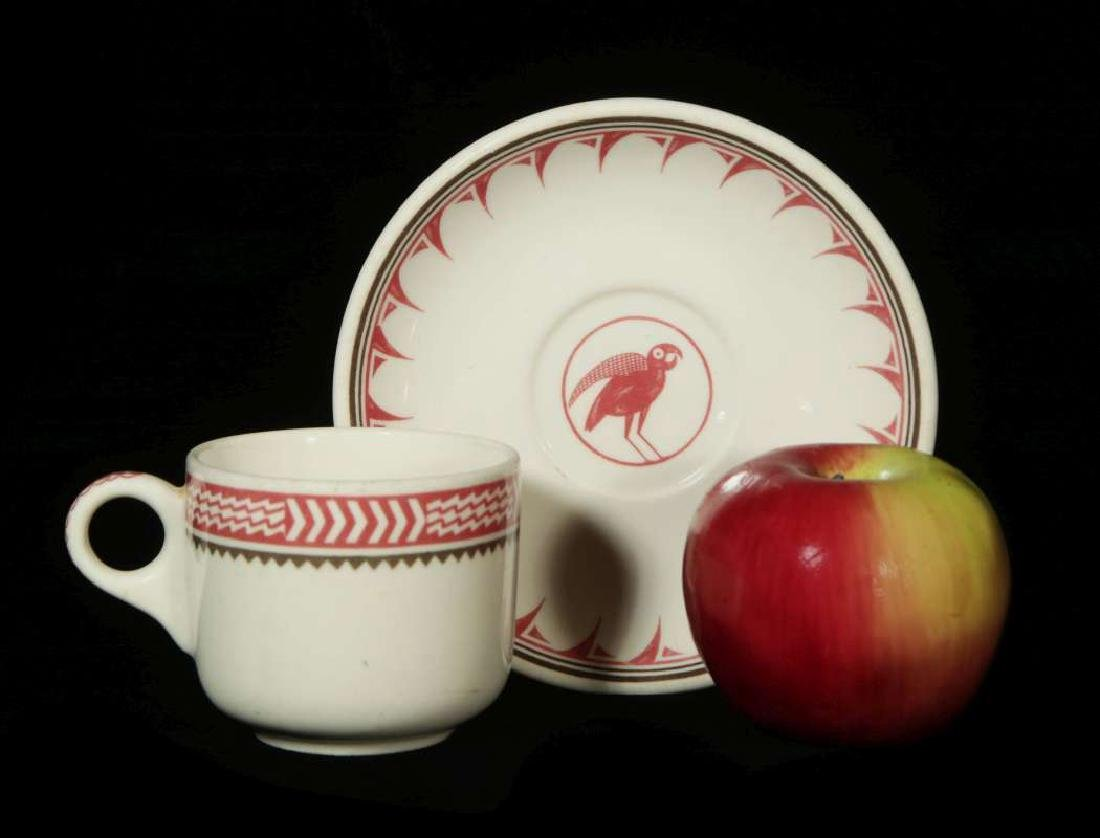 AT&SF SANTA FE RR MIMBRENO COFFEE CUP AND SAUCER - 2