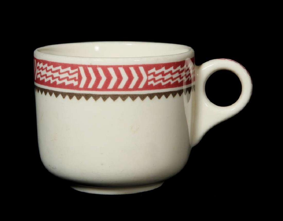 AT&SF SANTA FE RR MIMBRENO COFFEE CUP AND SAUCER - 9