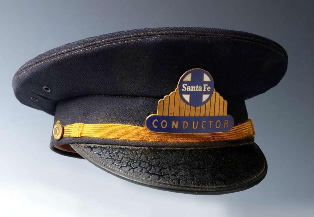 AN AT&SF SANTA FE RR CONDUCTOR VISOR CAP