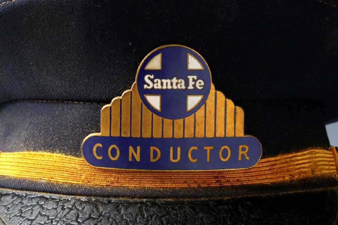 AN AT&SF SANTA FE RR CONDUCTOR VISOR CAP - 2