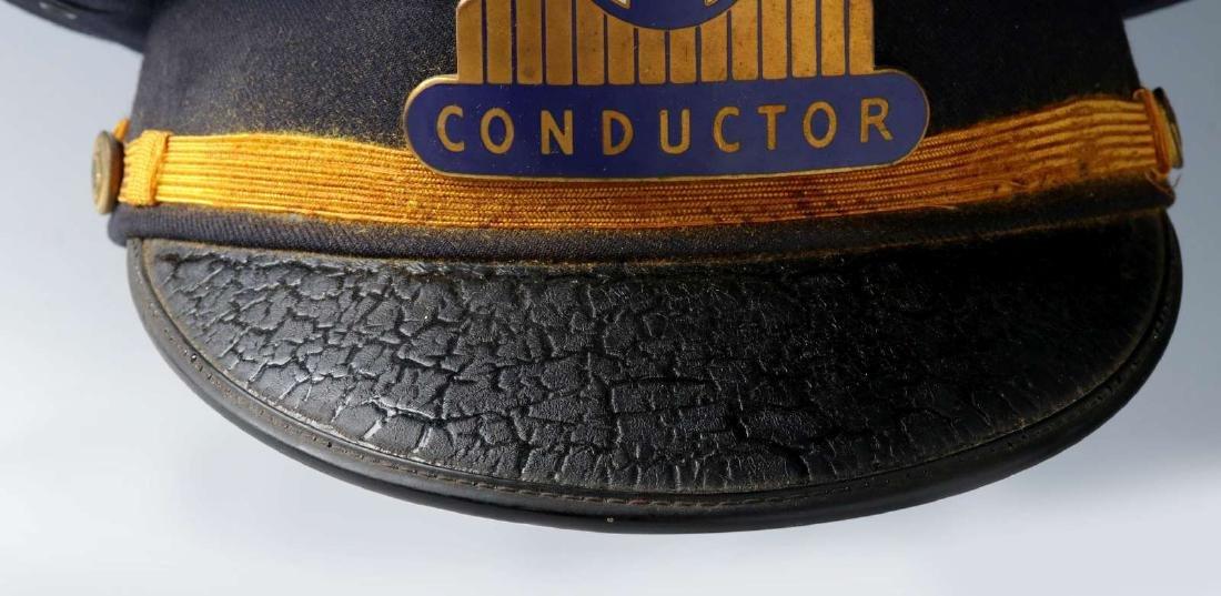 AN AT&SF SANTA FE RR CONDUCTOR VISOR CAP - 3
