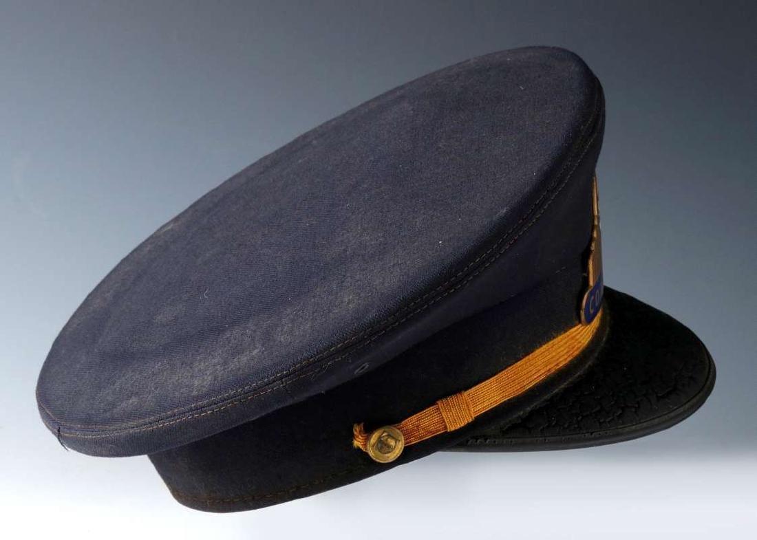 AN AT&SF SANTA FE RR CONDUCTOR VISOR CAP - 4