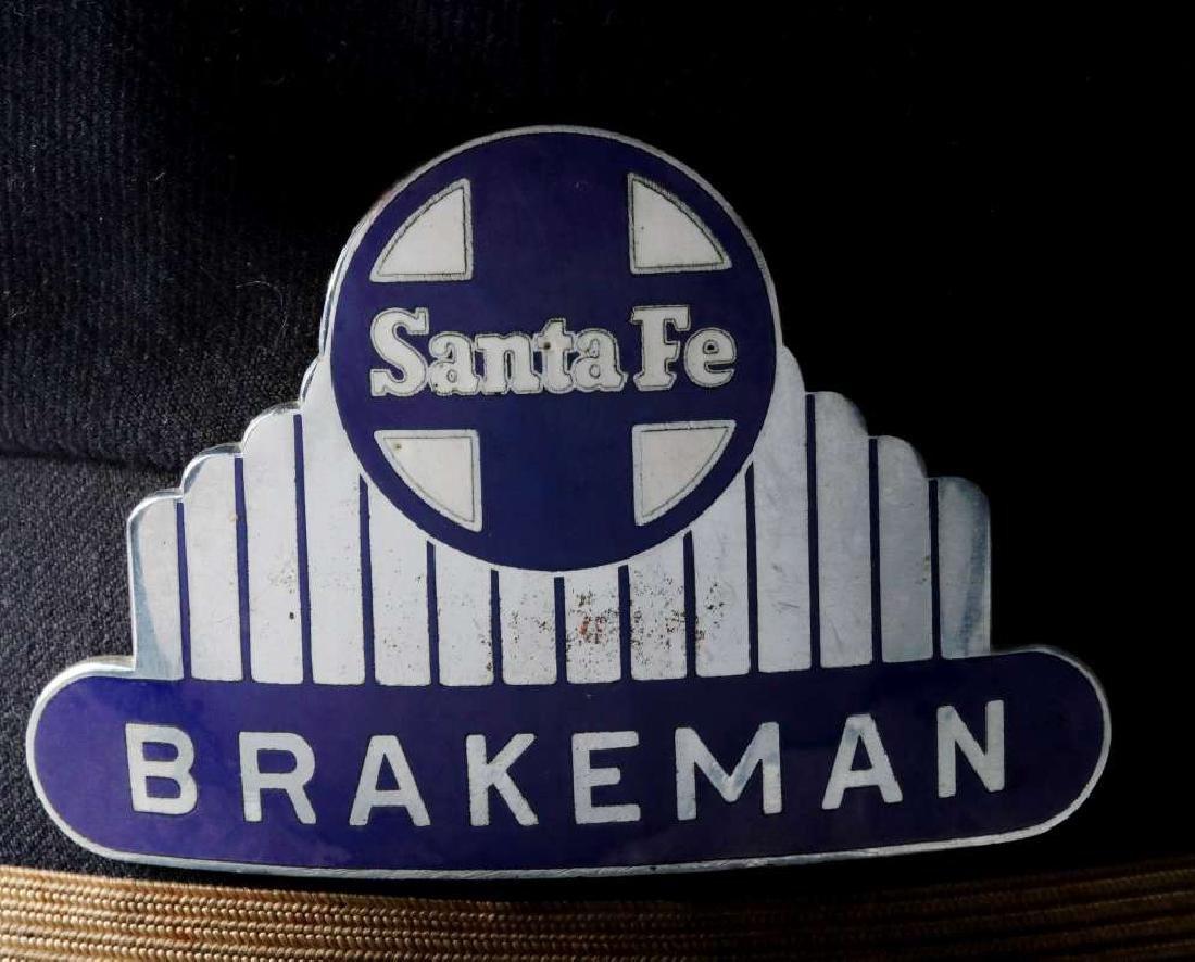 AN AT&SF SANTA FE RR BRAKEMAN VISOR CAP - 2