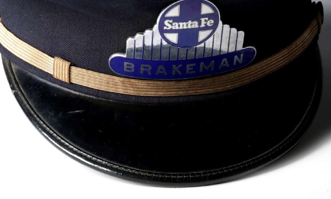 AN AT&SF SANTA FE RR BRAKEMAN VISOR CAP - 3