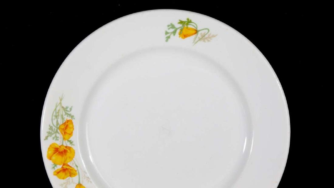 TWO AT&SF SANTA FE RR CALIFORNIA POPPY PLATES - 10
