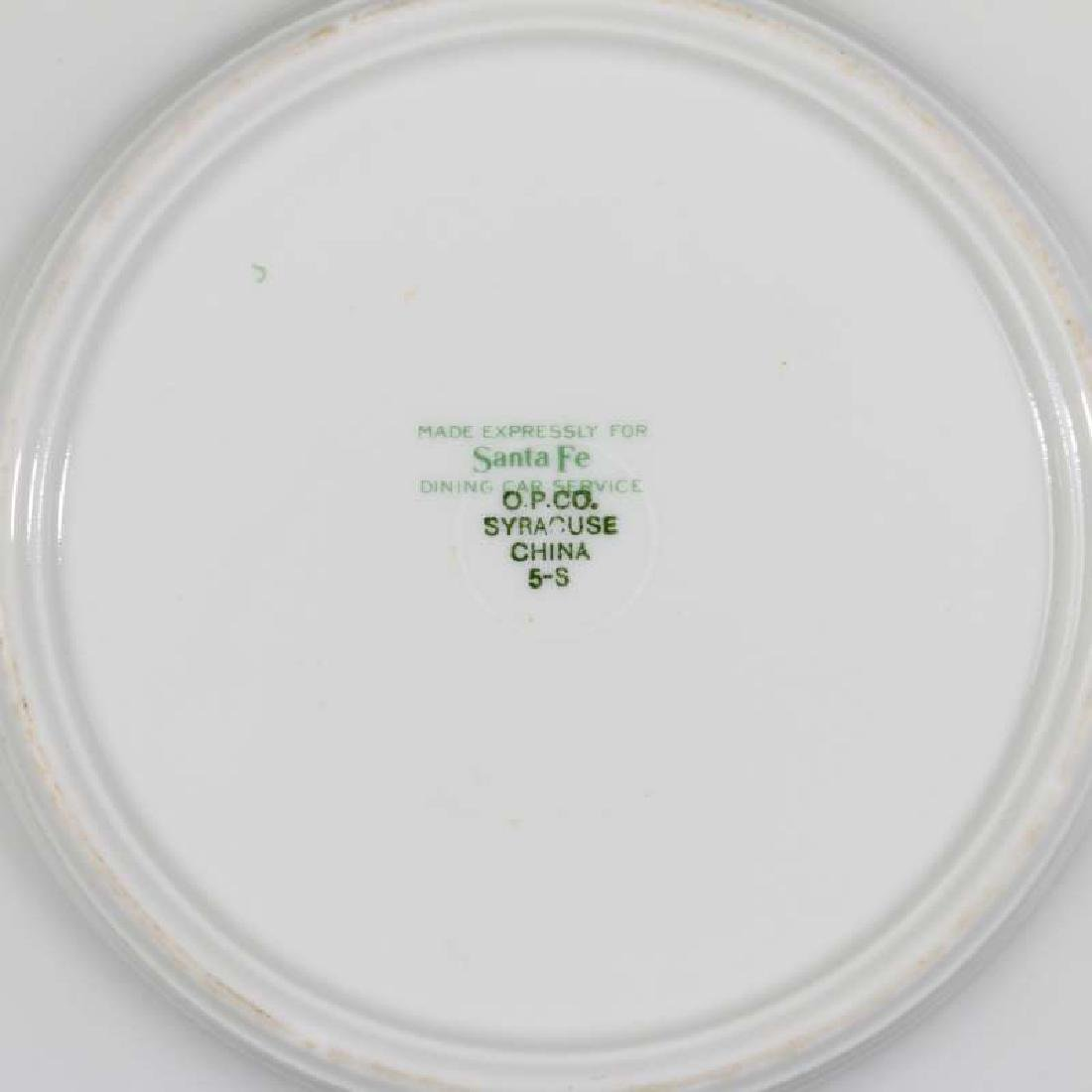 TWO AT&SF SANTA FE RR CALIFORNIA POPPY PLATES - 11