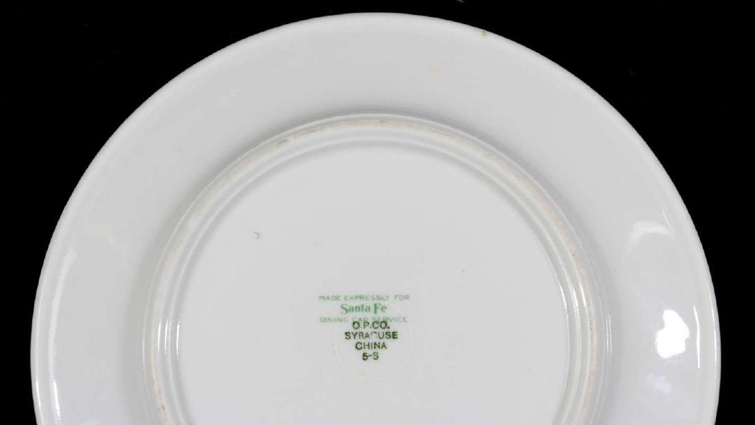 TWO AT&SF SANTA FE RR CALIFORNIA POPPY PLATES - 12