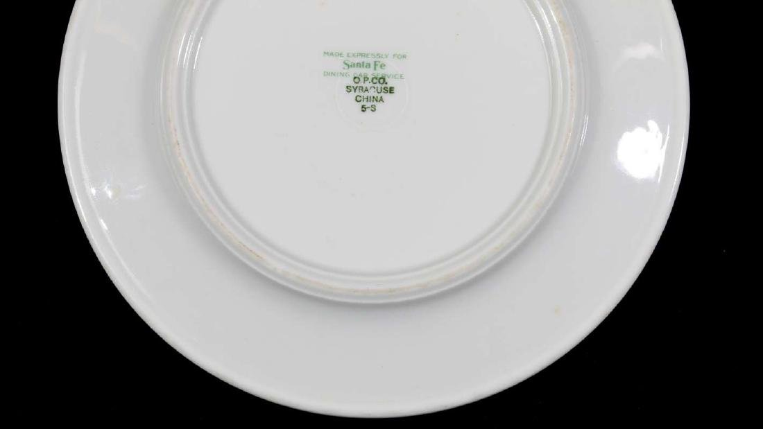 TWO AT&SF SANTA FE RR CALIFORNIA POPPY PLATES - 13