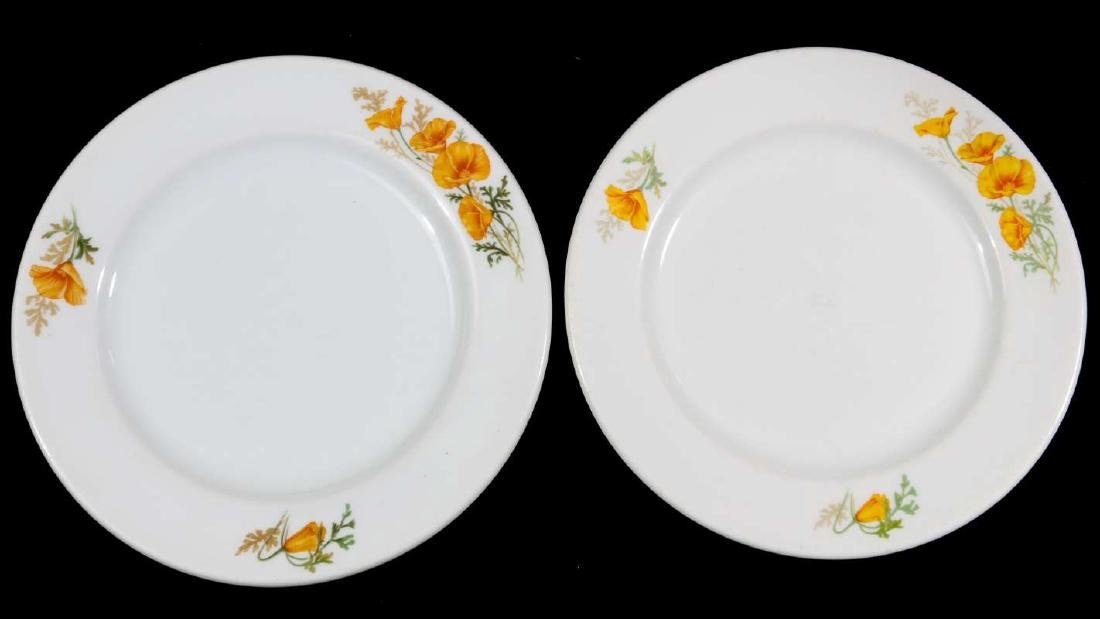 TWO AT&SF SANTA FE RR CALIFORNIA POPPY PLATES