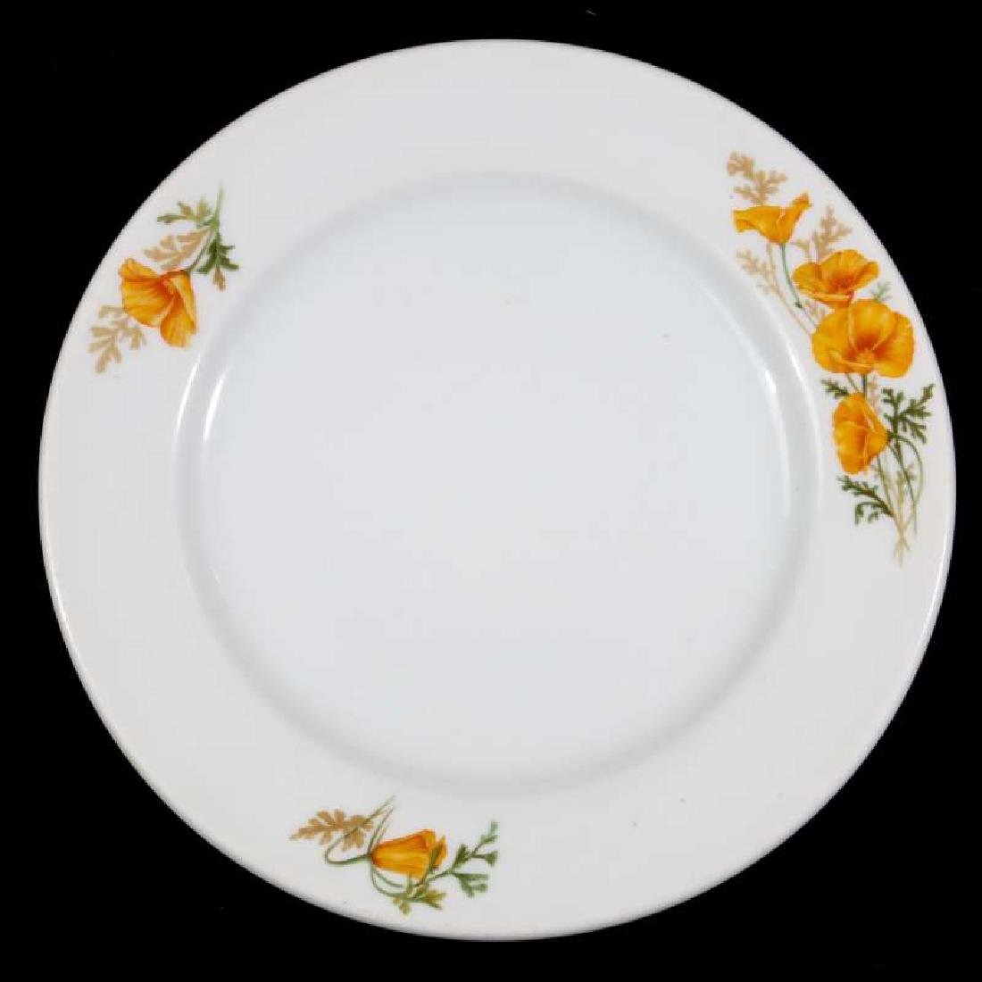 TWO AT&SF SANTA FE RR CALIFORNIA POPPY PLATES - 2