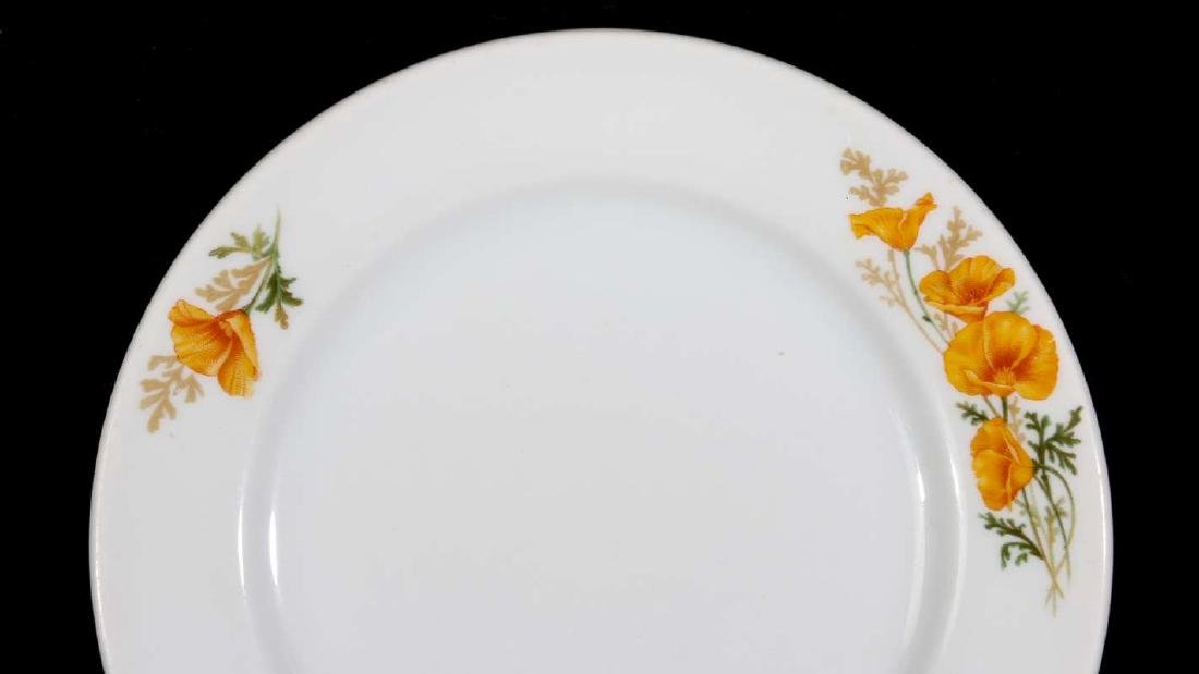 TWO AT&SF SANTA FE RR CALIFORNIA POPPY PLATES - 3