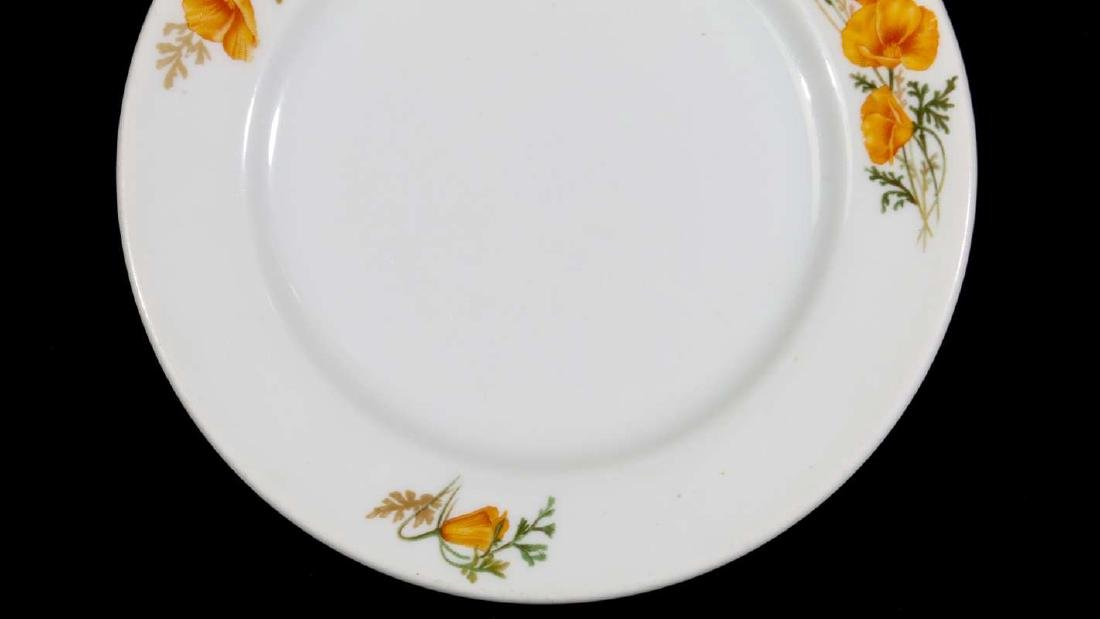 TWO AT&SF SANTA FE RR CALIFORNIA POPPY PLATES - 4