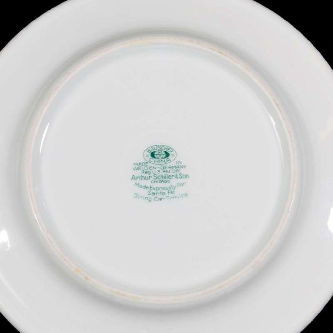 TWO AT&SF SANTA FE RR CALIFORNIA POPPY PLATES - 5
