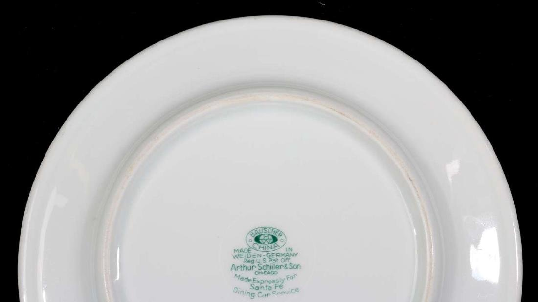 TWO AT&SF SANTA FE RR CALIFORNIA POPPY PLATES - 6