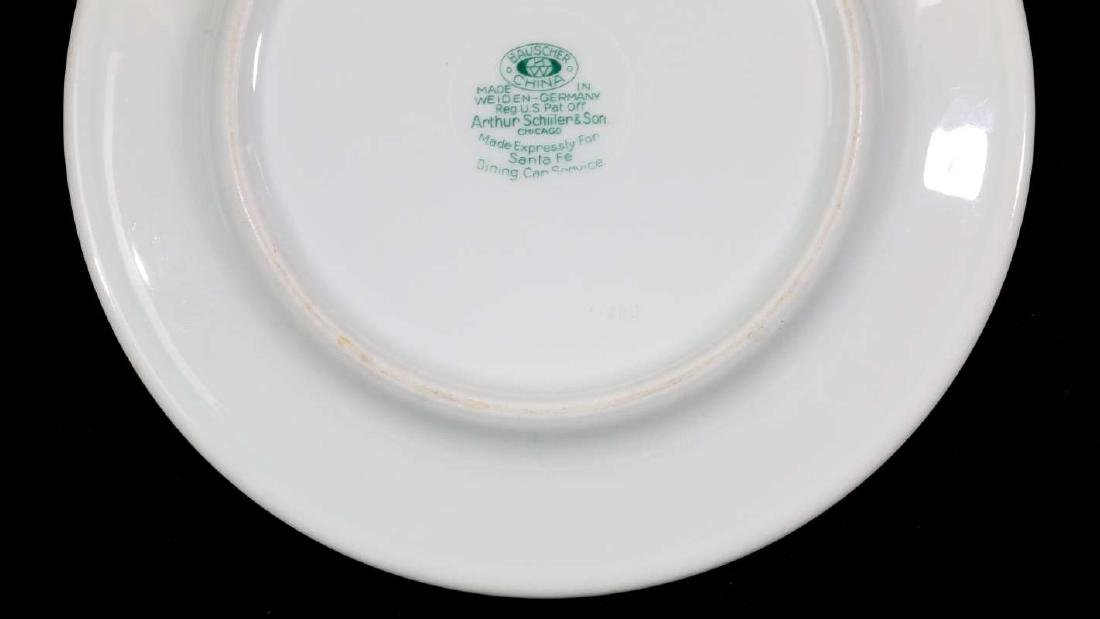 TWO AT&SF SANTA FE RR CALIFORNIA POPPY PLATES - 7