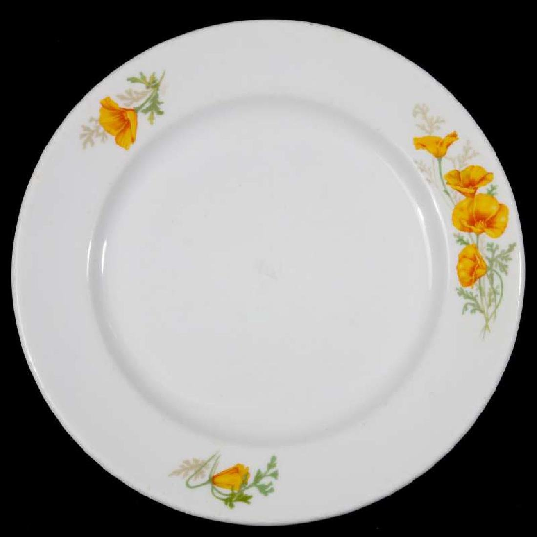 TWO AT&SF SANTA FE RR CALIFORNIA POPPY PLATES - 8