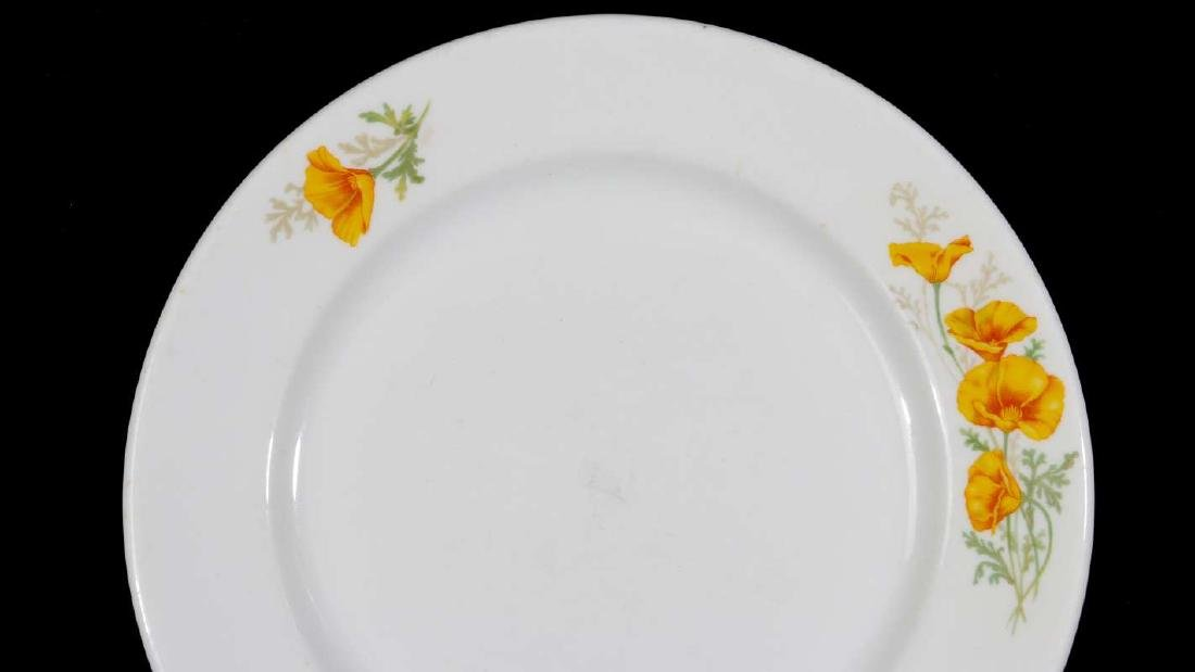 TWO AT&SF SANTA FE RR CALIFORNIA POPPY PLATES - 9