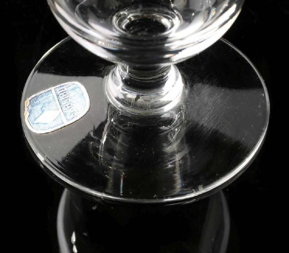 SANTA FE RR DRAPE LOGO PARFAIT GLASS SIGNED HEISEY - 4