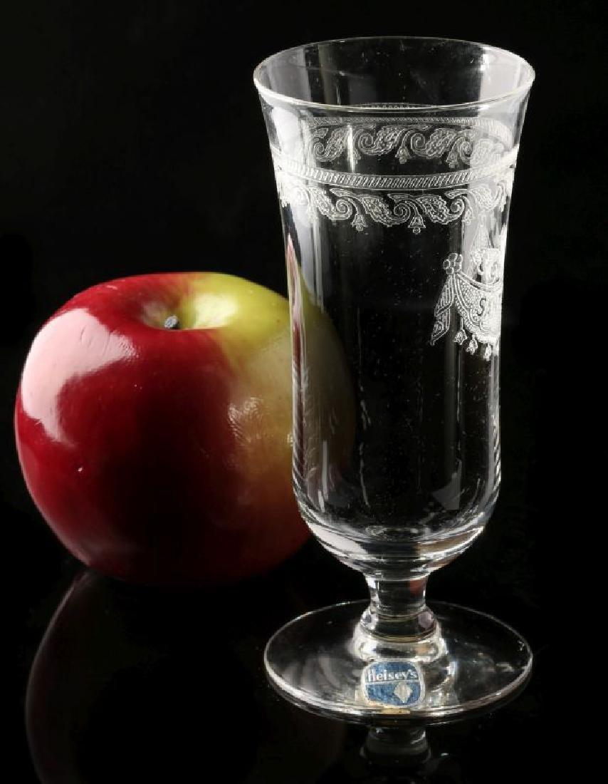 SANTA FE RR DRAPE LOGO PARFAIT GLASS SIGNED HEISEY - 6