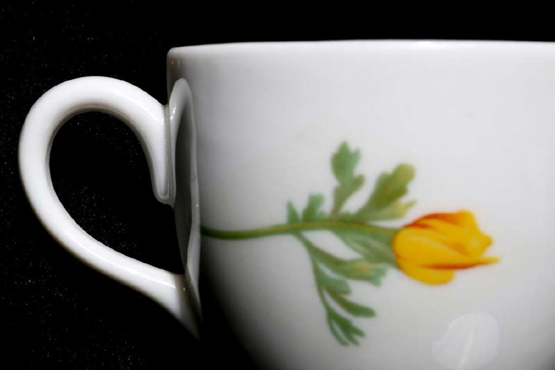 AT&SF CALIFORNIA POPPY DEMITASSE CUP AND SAUCER - 11