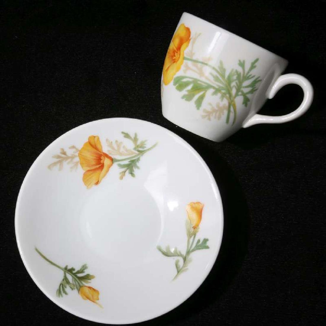 AT&SF CALIFORNIA POPPY DEMITASSE CUP AND SAUCER