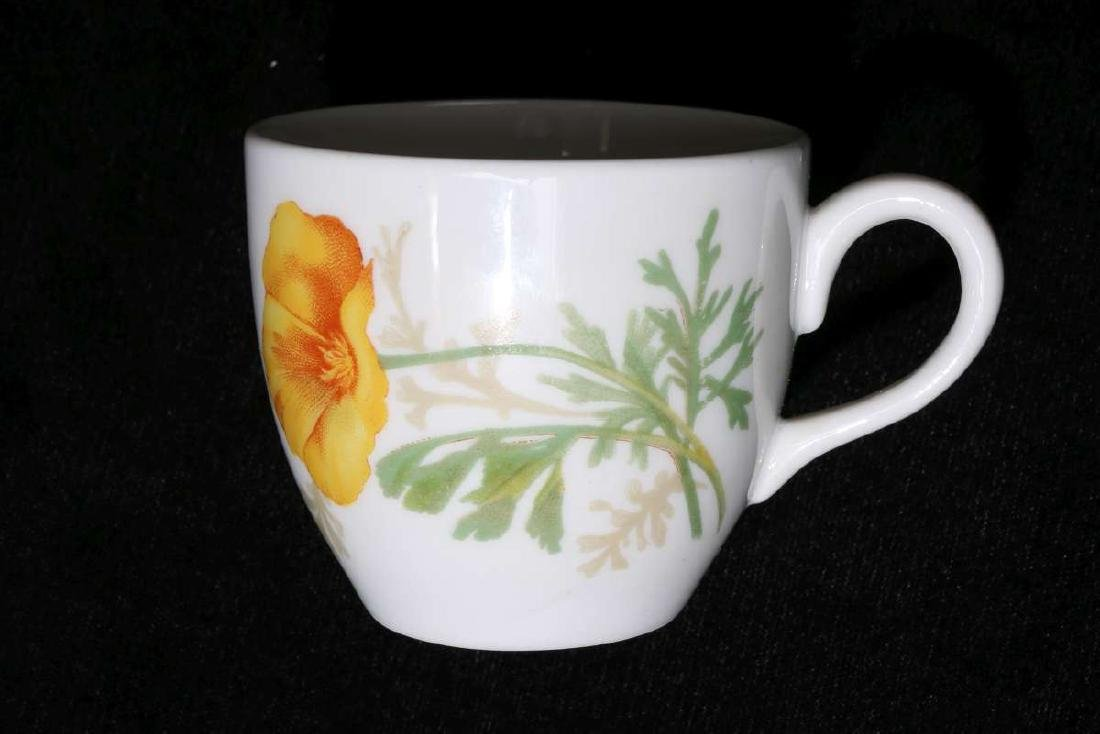 AT&SF CALIFORNIA POPPY DEMITASSE CUP AND SAUCER - 8