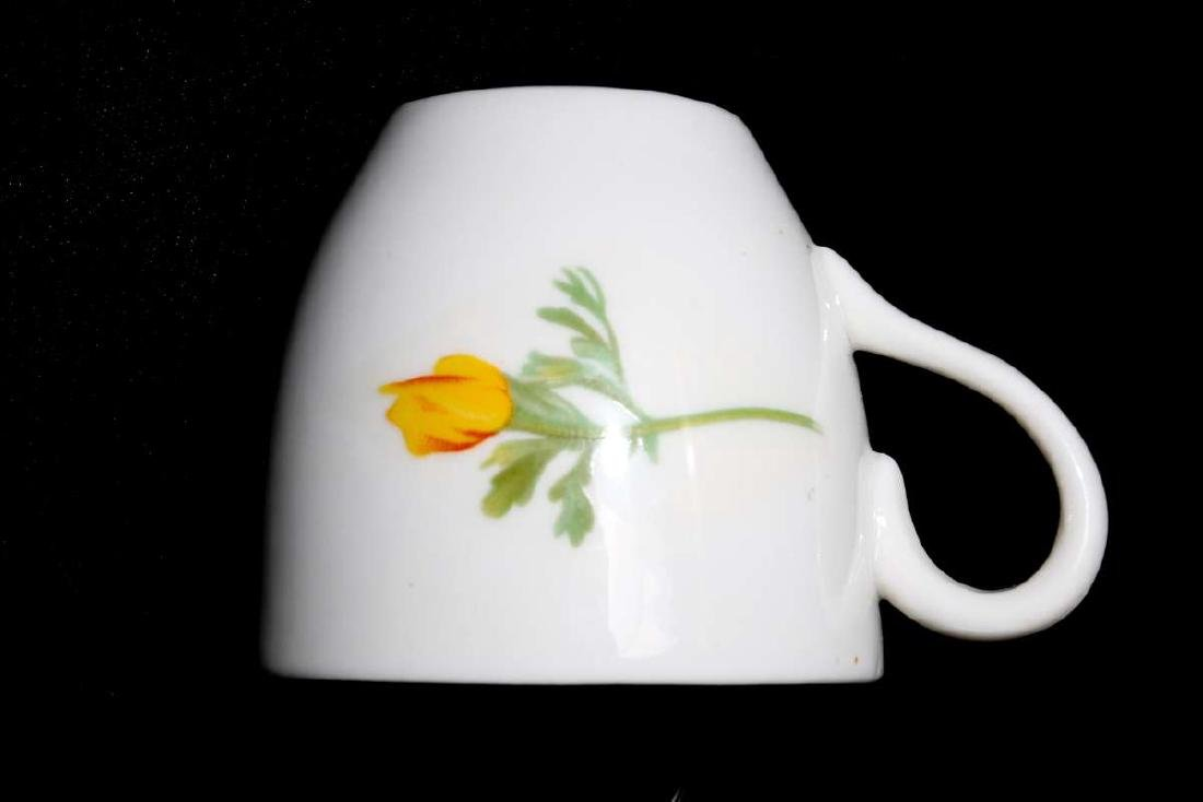 AT&SF CALIFORNIA POPPY DEMITASSE CUP AND SAUCER - 9